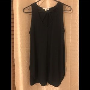 Black Tunic Top from Express